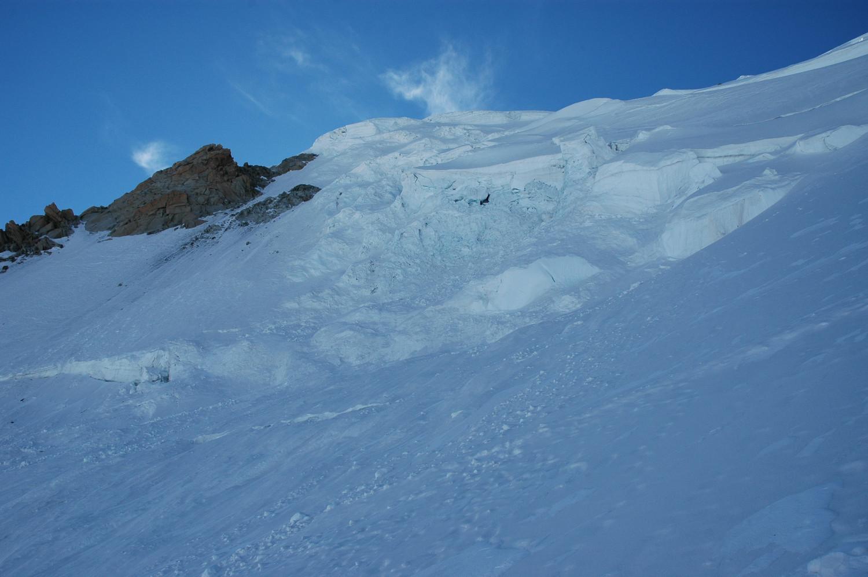 Zone d'effondrement de sérac au Mt Blanc du Tacul