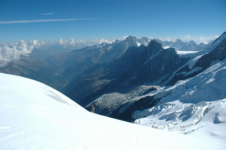 Vallée de Chamonix  vue du Goûter