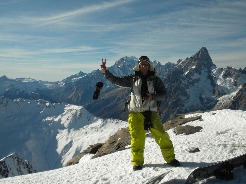 Manu et le Mont Blanc derrière