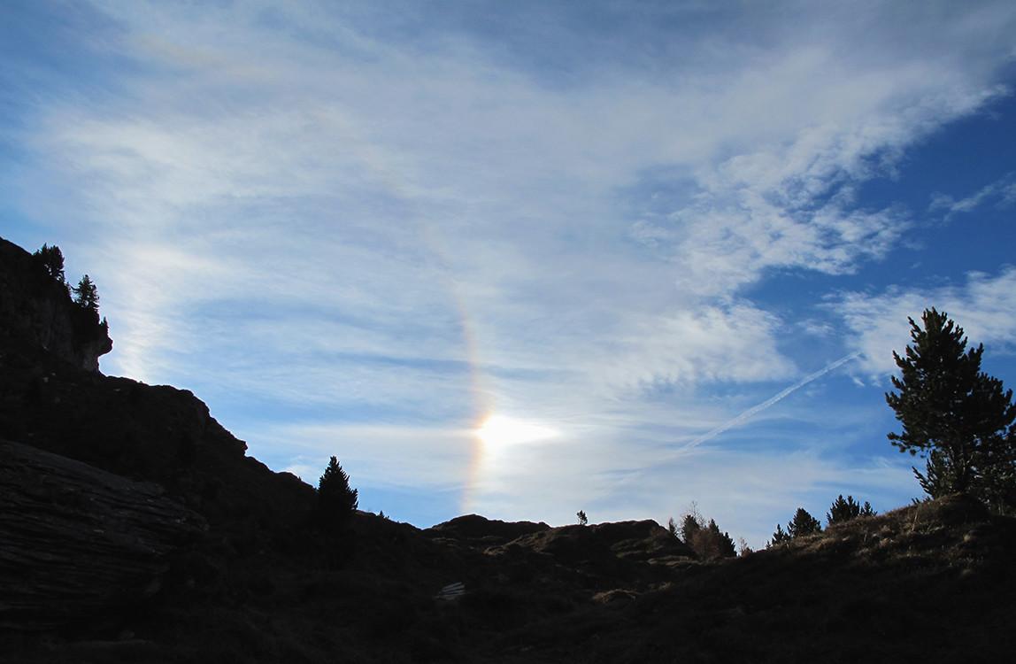 spettro solare (non è il sole, ma un suo riflesso!).