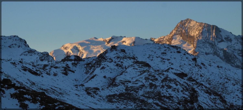 Premiers rayons sur le Dôme de la Sache et le Mont Pourri