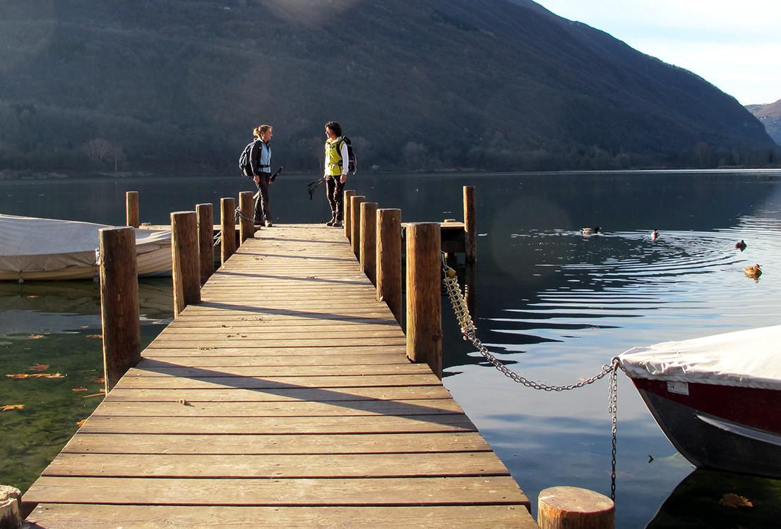 partenza dal Lago di Piano...