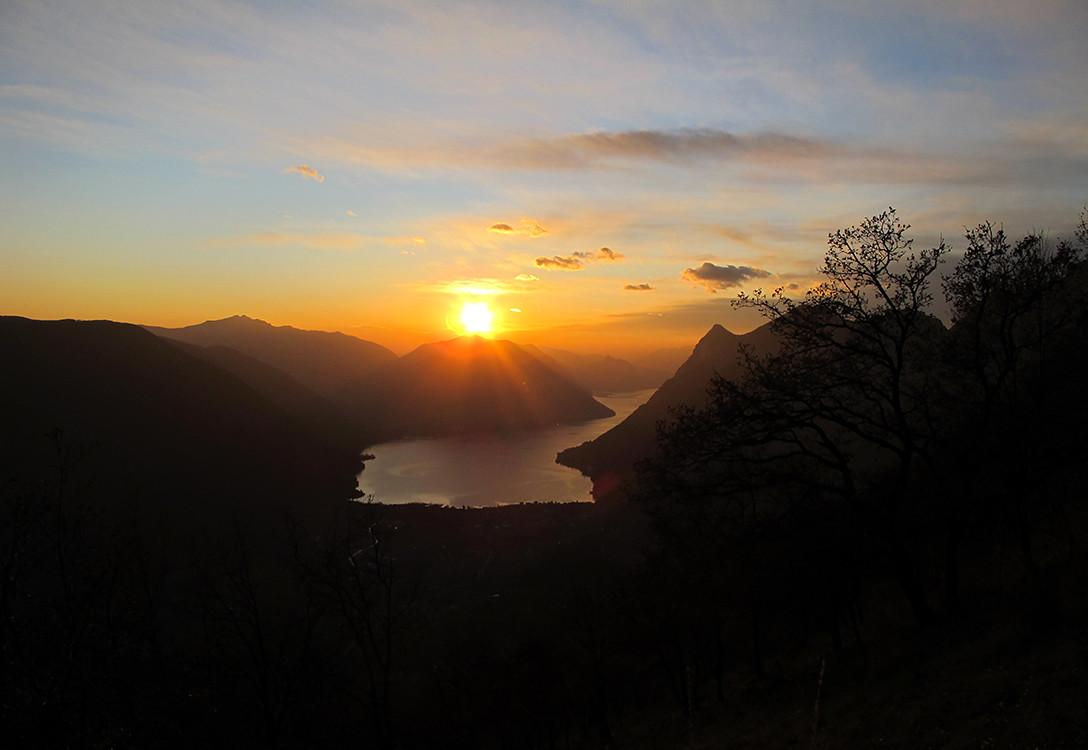 tramonto dal Pidaggia I°
