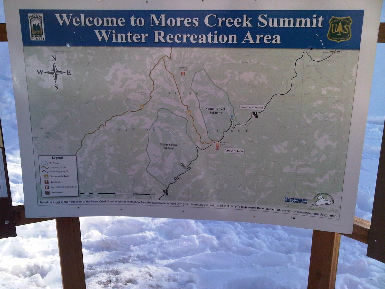 Cartello indicatore al Mores Creek Summit