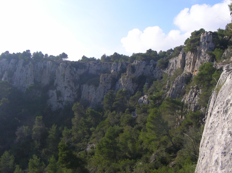 Cirque de Les Caunes, dans le massif de la Clape