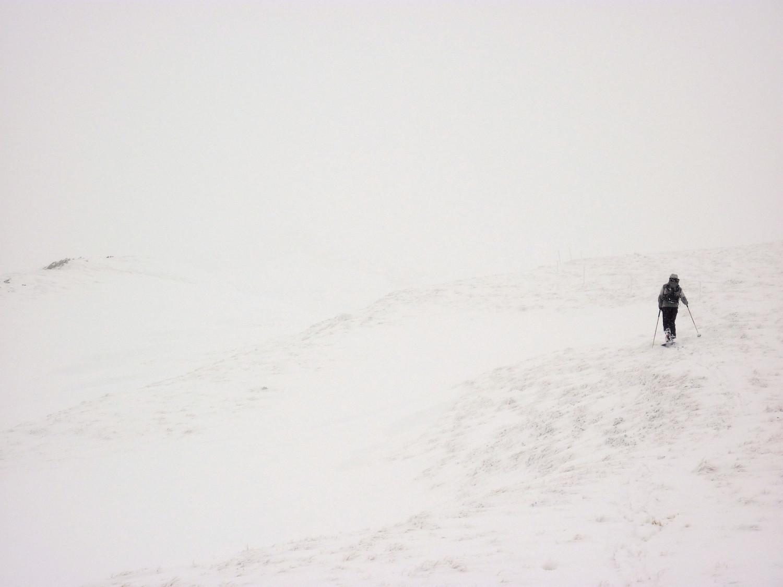Sommet pelé du Mount Agut de Betpouey: limite, la visi !