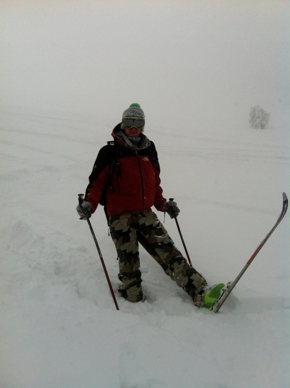 moi même lors de la descente à un ski
