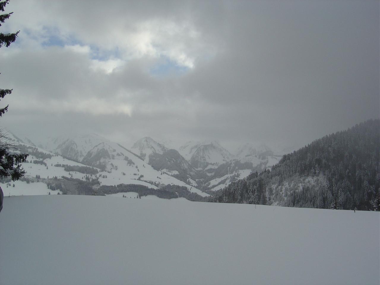 Coup d'oeil sur les montagnes de Grandvillard...