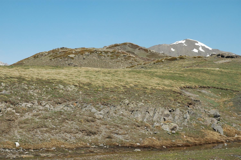 Col du Granon, la Gardiole au loin