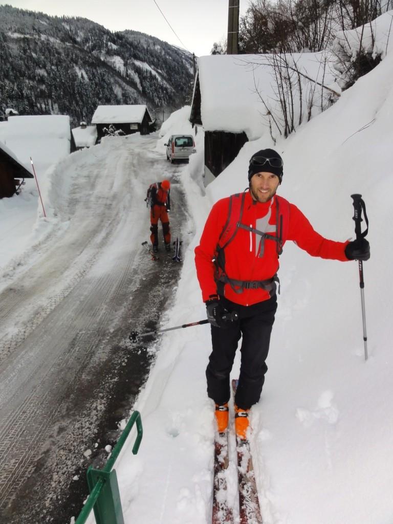 Départ de Villard Benoît (1035m) sur la route du Col de la Madeleine