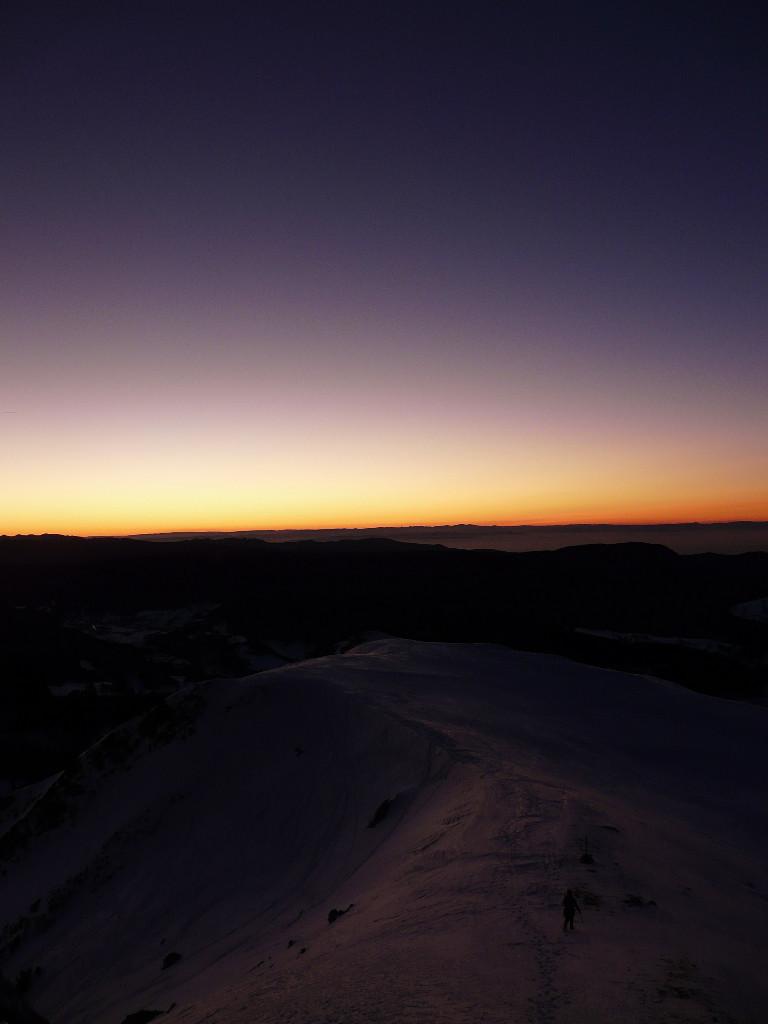fin des difficultés au coucher du soleil