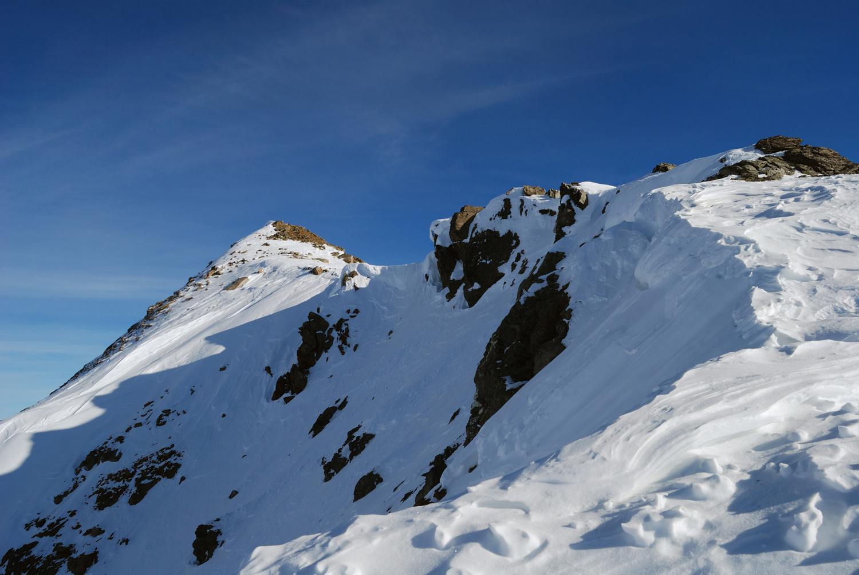gli ultimi metri a piedi lungo la cresta SW del Monte Campaccio 3007 m