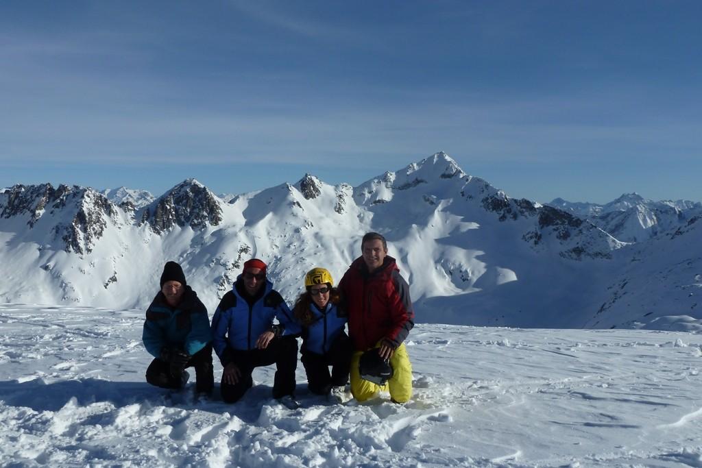 Buon anno e buone gite da Fedele a destra, Maria Grazia, Giorgio, Maurizio