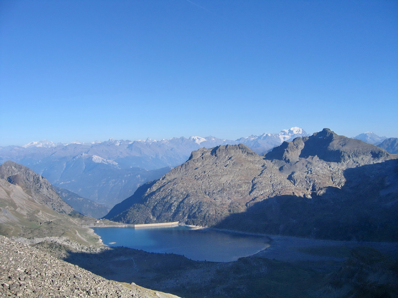 lac de Salanfe et Valais, du col de Susanfe