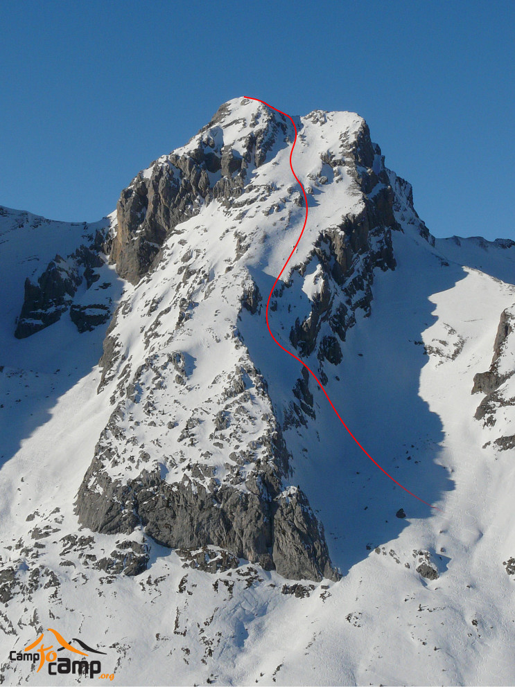 Pointe Blanche, Face SE