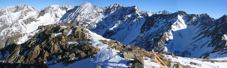 Panorama vers le NE depuis la Tête de la Grisonnière