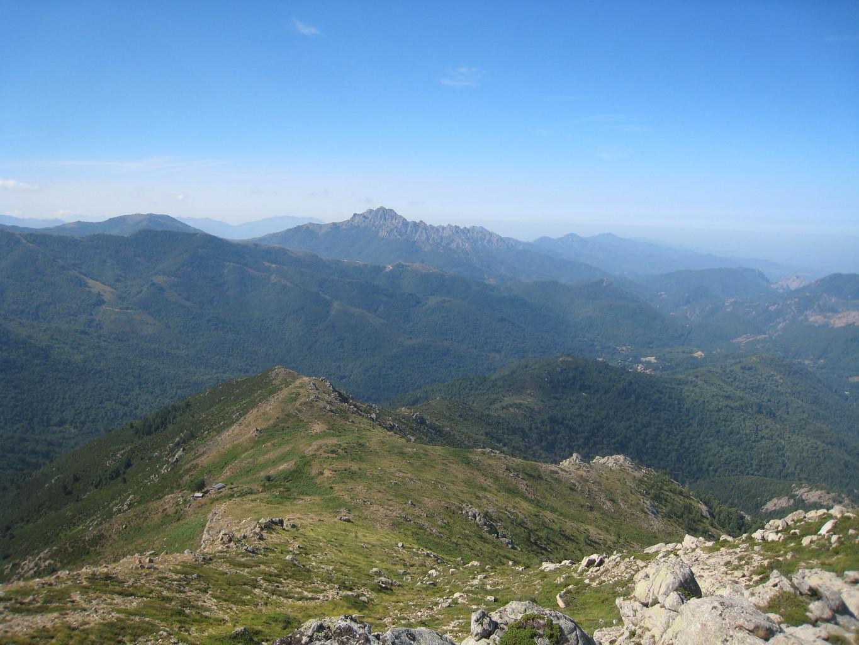 vue vers le S depuis la Punta di Feno