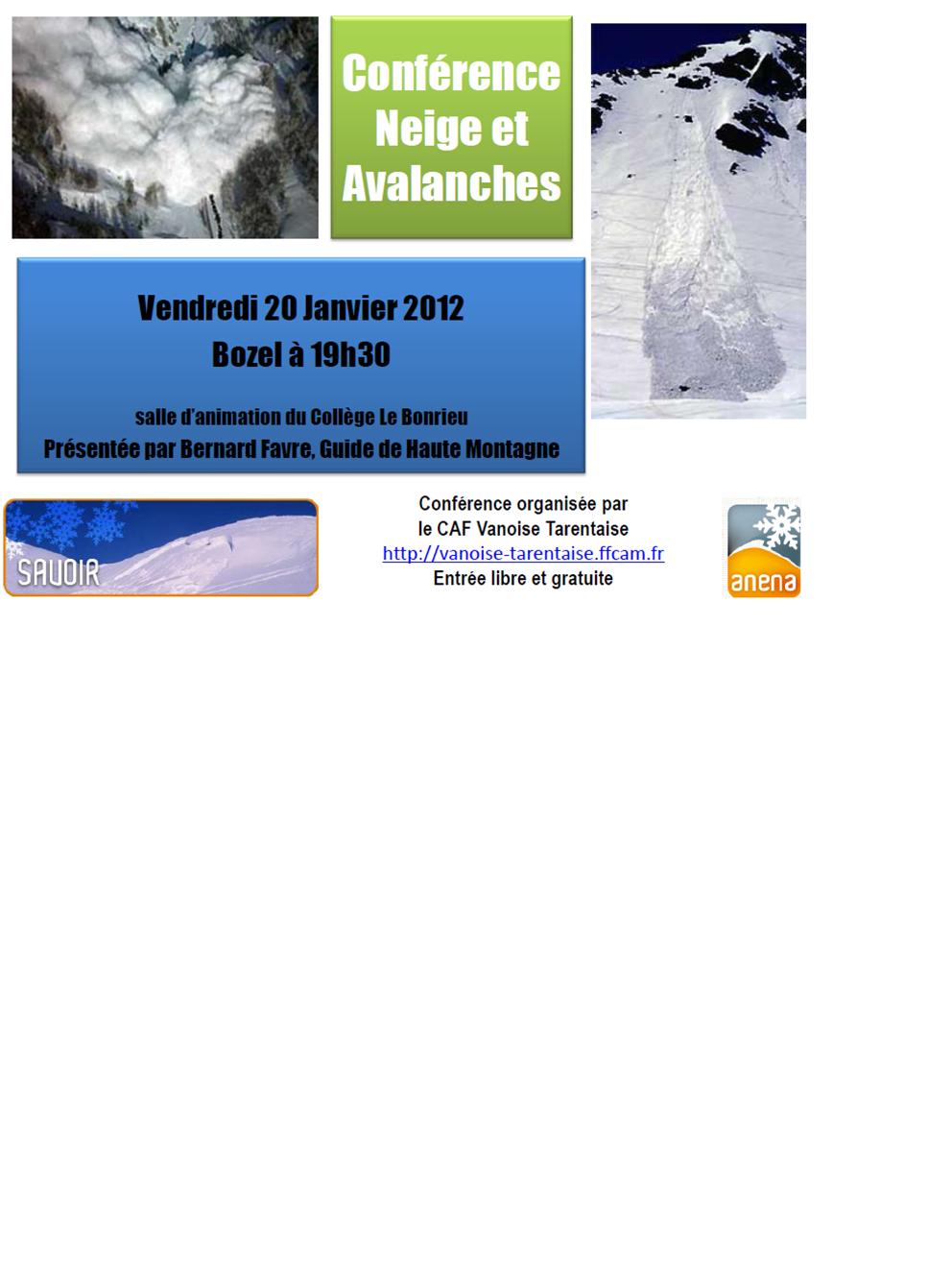 Conférence Neige et Avalanches
