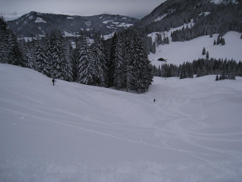Crêt du Very -des skieurs qui ont déjà finit la course