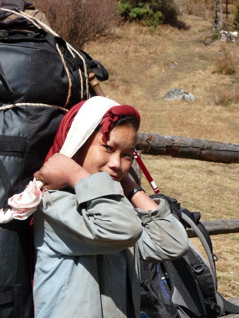 sherpani porteuse