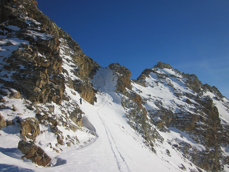 Descente pour rejoindre le glacier des Ignes