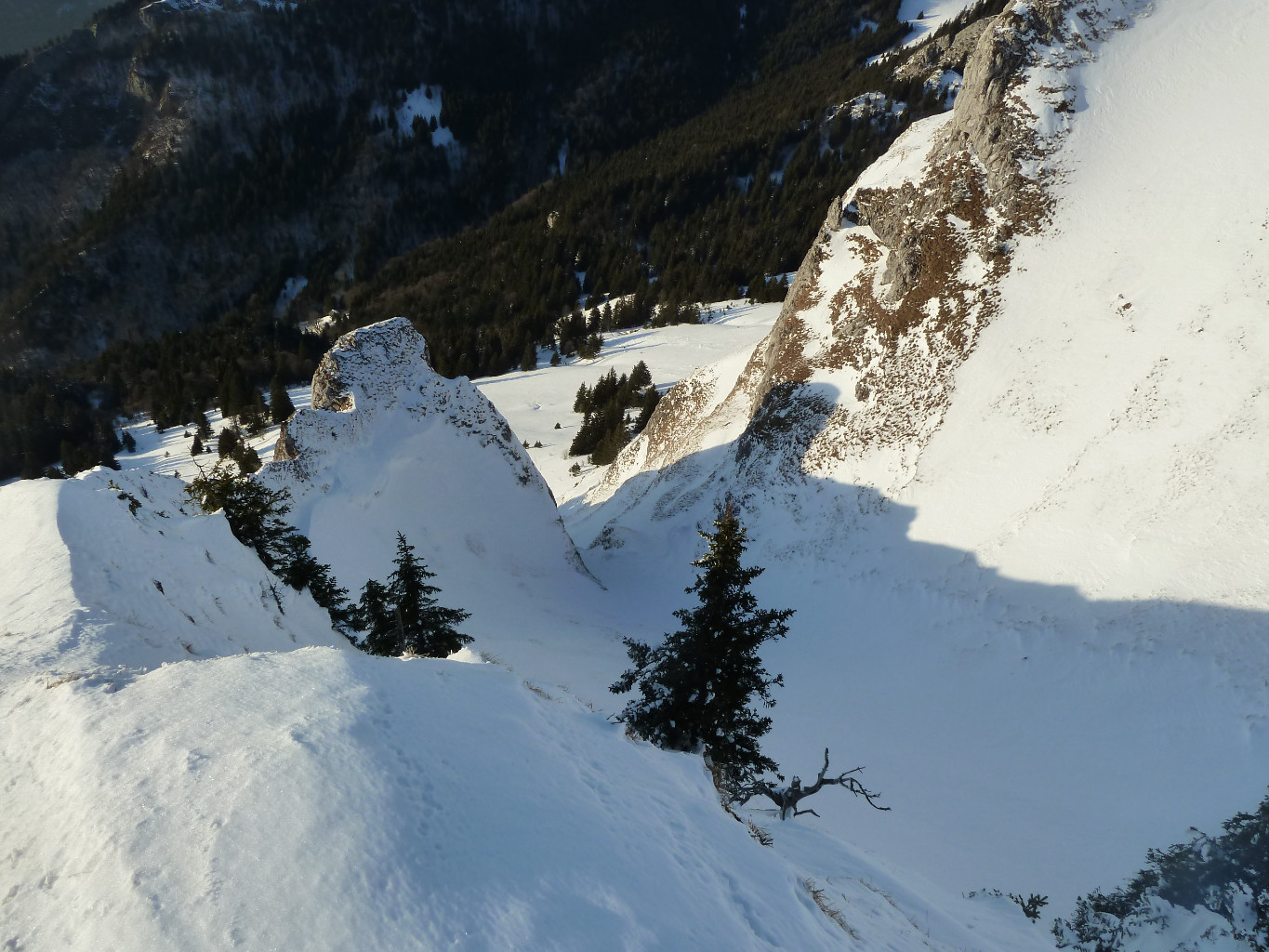 Le couloir W: pas en top conditions