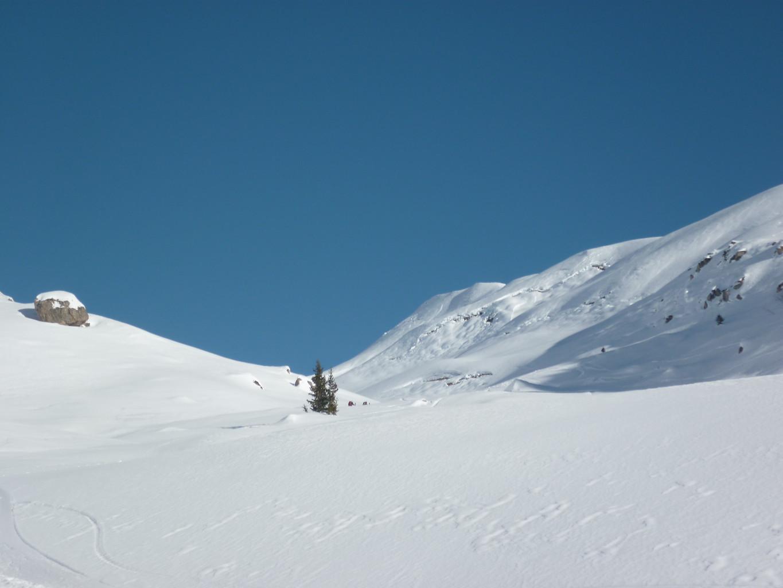 Reptations en versant W du Mont Rosset