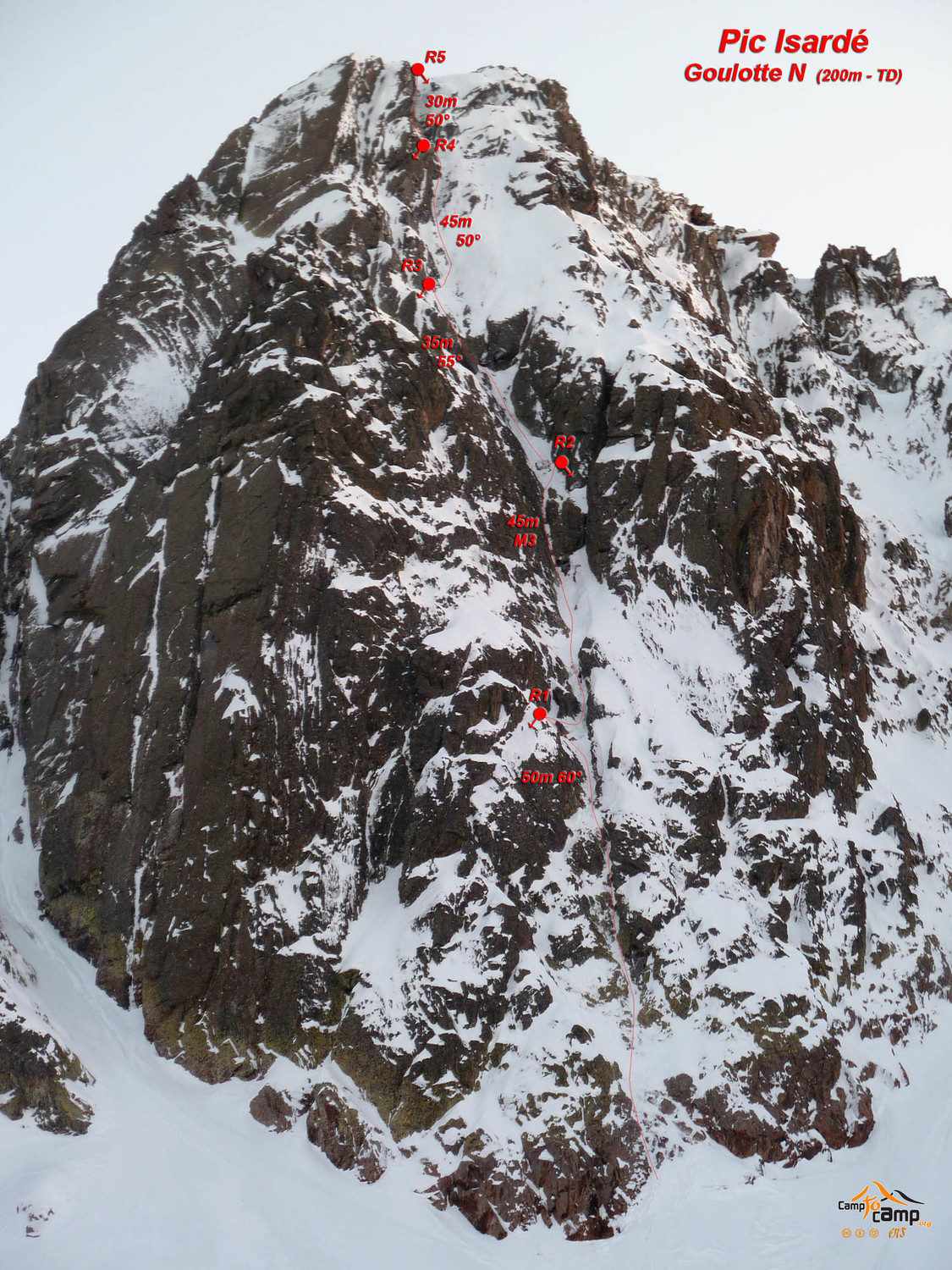 Pic Isardé - Goulotte face Nord