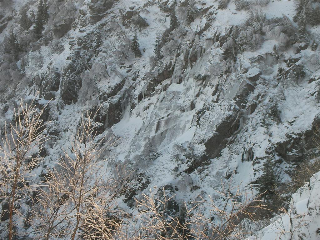 Secteur de gauche du Lac Blanc (Vosges) vu depuis la crête.