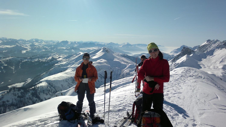 Marie et Sandrine au sommet
