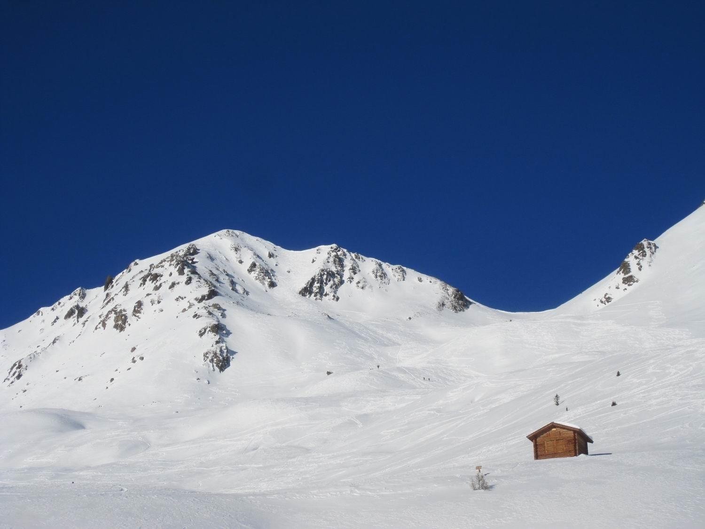 la nostra meta vista dall'alpe