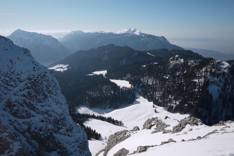 Du sommet, la Prairie du Col, et la Grande Sure