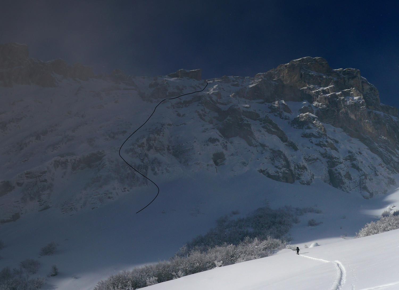 Tête des Ombres - Face Nord
