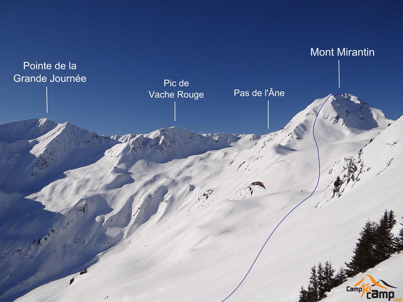 Mont Mirantin face SE