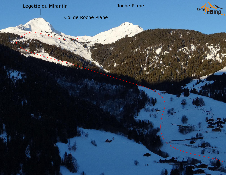 Col de Roche Plane depuis les Carroz