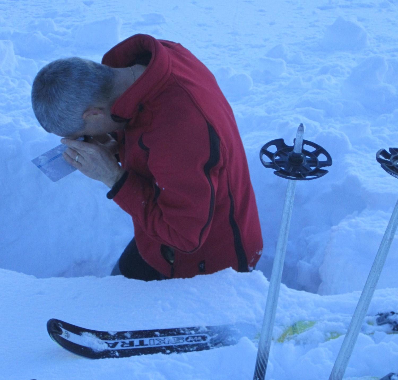 Analyse du manteau neigeux à 1800m