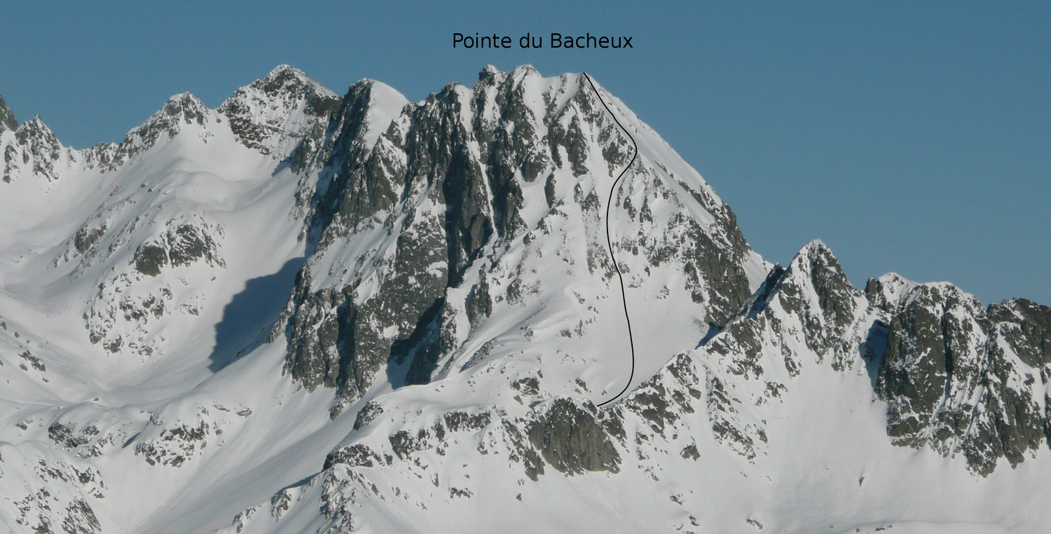 Pointe du Bacheux : Face S