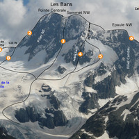 Les Bans : alpin routes of the north face