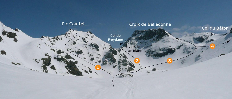 Pic Couttet - Col de Freydane - Croix de Belledonne