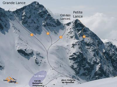 Col des Lances Versant E : itinéraire 3