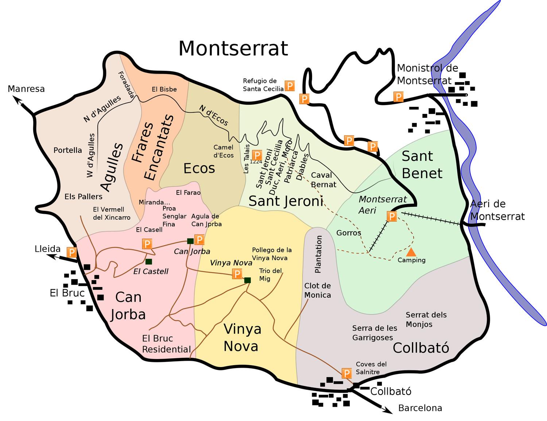 Topo : Montserrat, vue générale