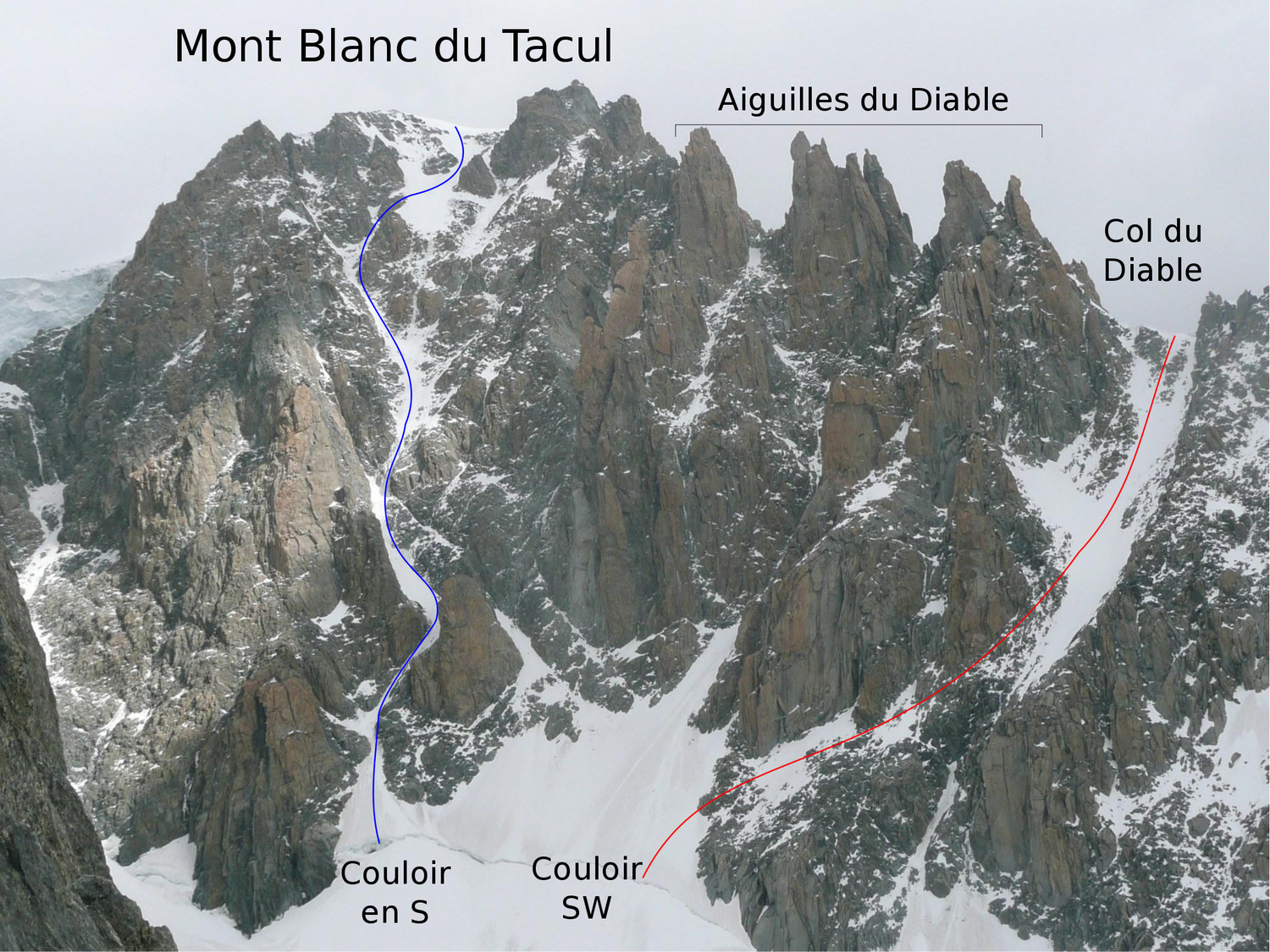 Mont Blanc du Tacul - FaceS