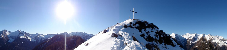 panorama sotto la cima del Pizzo Berro