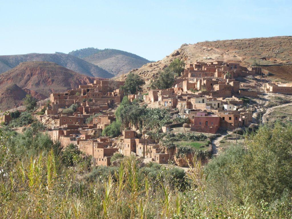 Village berbère au pied de l'Atlas
