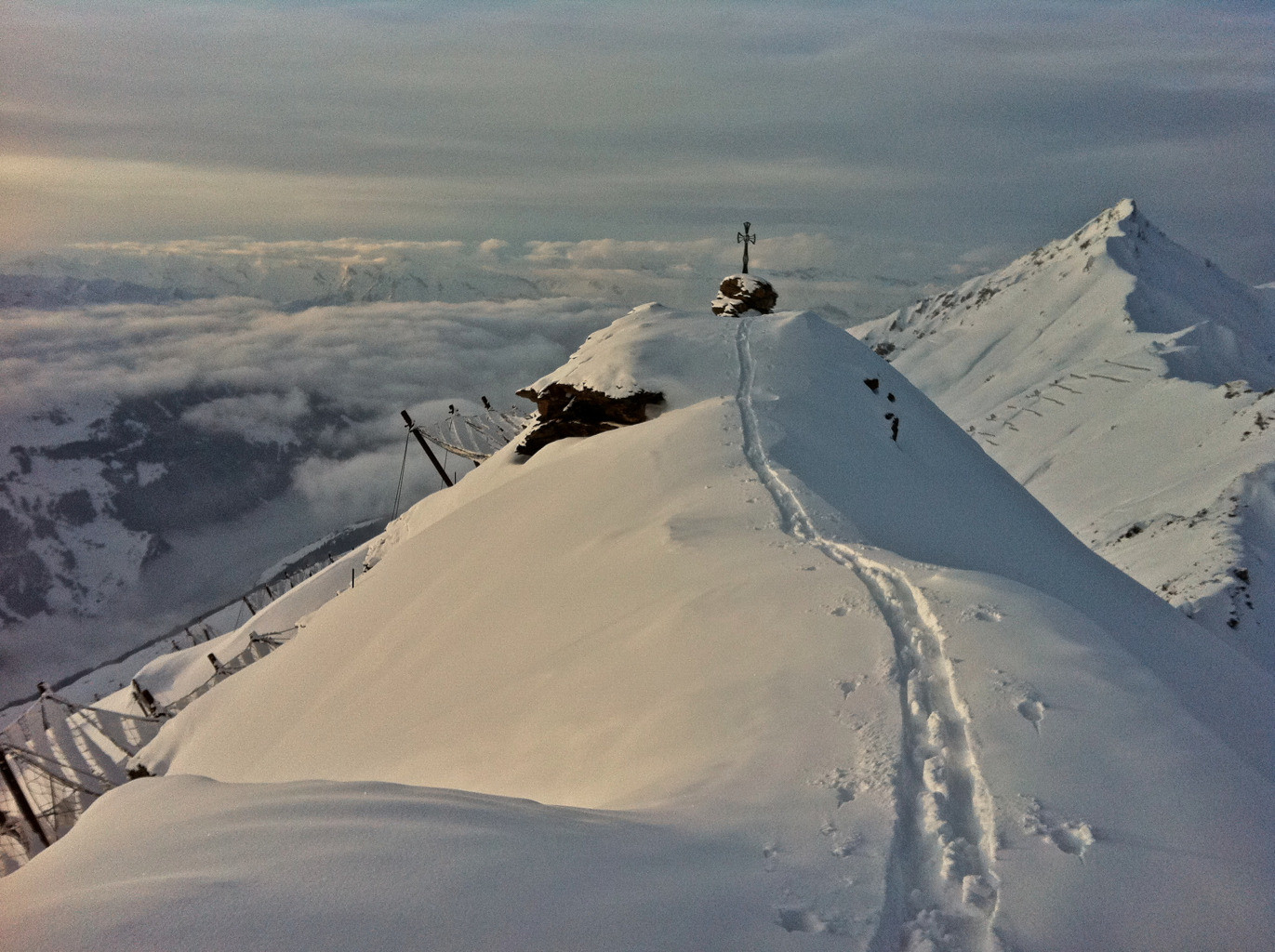 Pte du Tsaté, sommet, 17h, 20 jan 2012