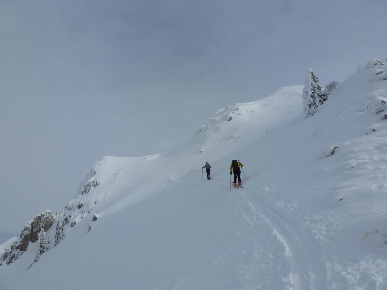 Krist@f et csv, peu avant de déposer les skis.