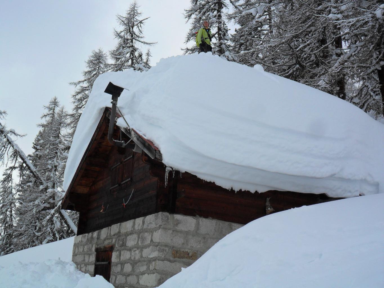 ...Lolla ci da l'esempio della quantità di neve...