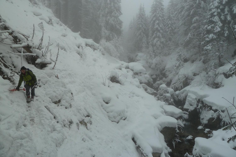 déchaussage au niveau du glissement de terrain