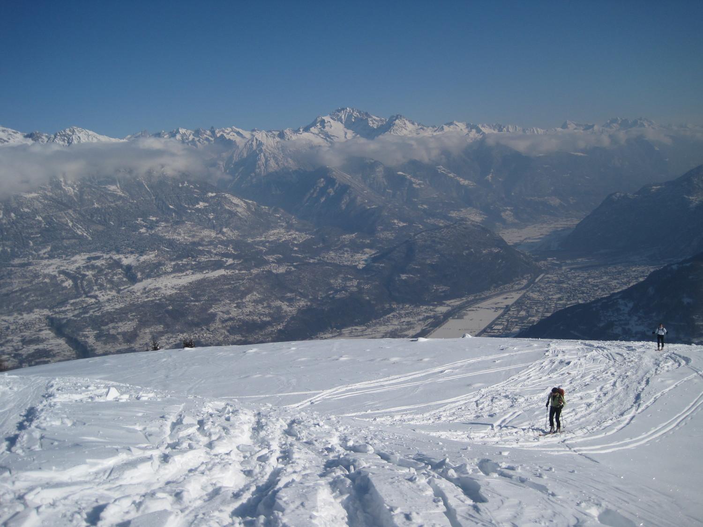 Balcone sul Disgrazia e la Valtellina imbiancata