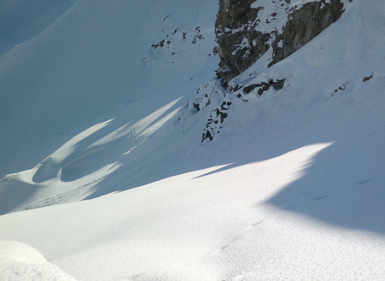 Depart du sommet pas encore tracé dans la face NE